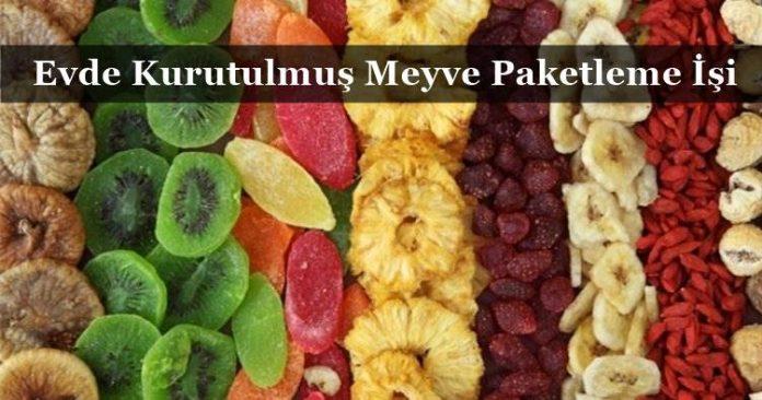 Evde Kurutulmuş Meyve Paketleme İşi İle Para Kazanma