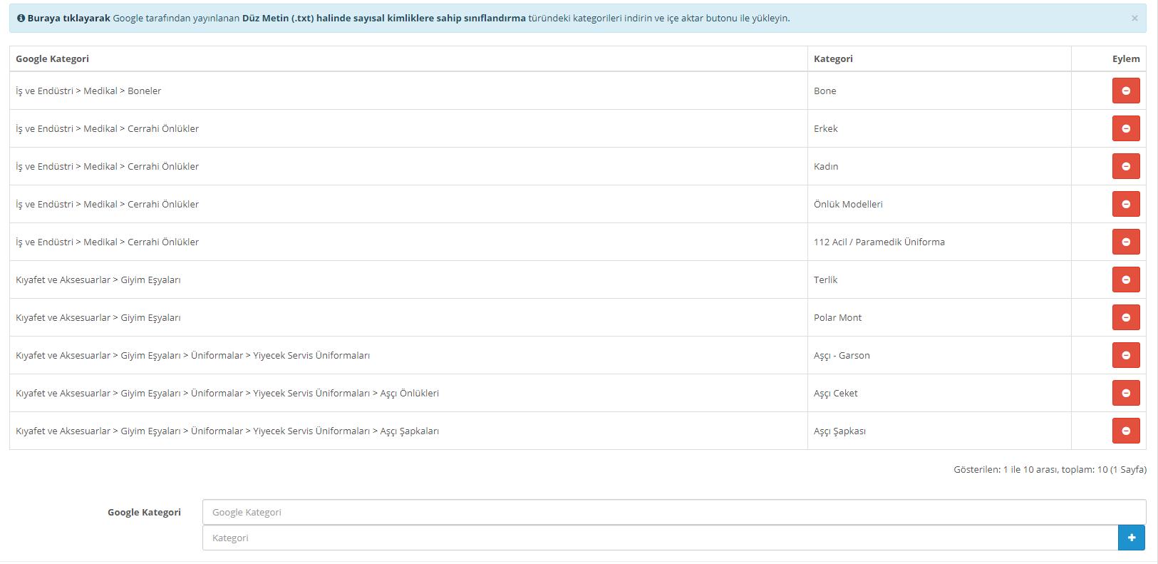 Google Base Kategori Ekleme
