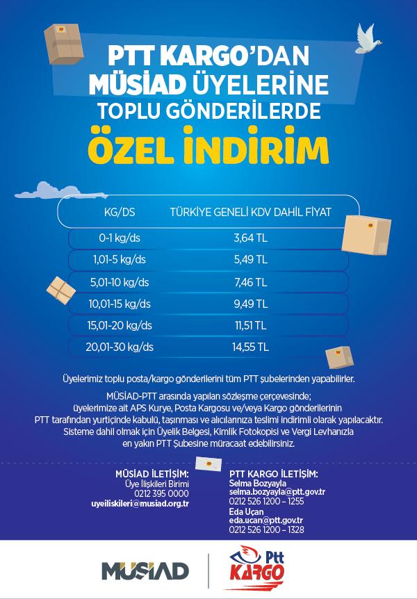 MÜSİAD - PTT Kargo Ücretleri